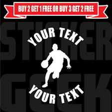 Custom Basketball Team Sports Vinyl Window Decal Car Bumper Sticker 0017 B Ebay