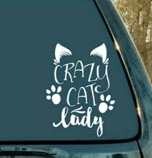 Crazy Cat Lady Vinyl Decal Sticker Car Window Laptop Wall Sign Ebay