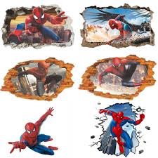Us Diy 3d Spider Man Removable Vinyl Wall Decal Stickers Kids Room Home Decor Wall Decals Vinyl Art Baby