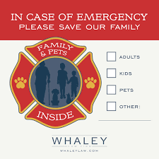 Free Fire Rescue Window Decal Whaley Law Firm
