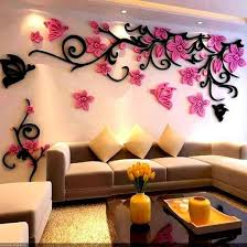 Home Accessory 3d Wall Stickers Floral Wall Decal Wall Decor Living Room Decor Wheretoget