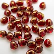 fire polished glass bead