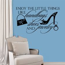 Female Wall Decal Enjoy Little Things Funny Shopping Theme