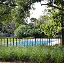 Steel Rod Pool Fence By Eckersley Garden Architecture Garden Pool Backyard Pool Landscaping Pool Landscaping