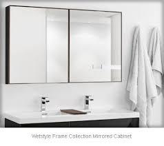 black bathroom mirror cabinets