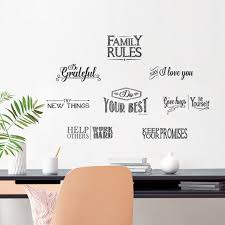 Winston Porter Family Rules Wall Decal Reviews Wayfair