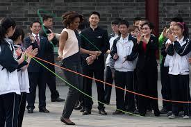 Michelle Obama como una estudiante más en China - Zeleb.es