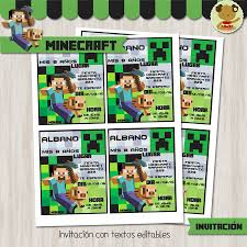 Minecraft Kit Candy Bar Golosinas