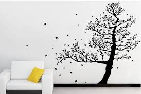 Realistic Tree Decals For Walls With Leaves Wall Sticker Etsy