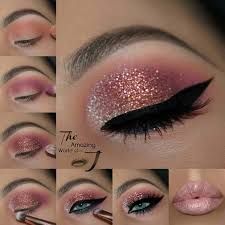 glitzy nye makeup ideas amately