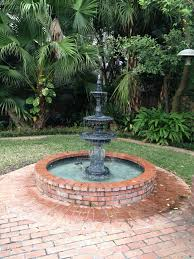 residential outdoor patio water feature