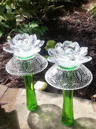 vases w bowls glass garden art glass