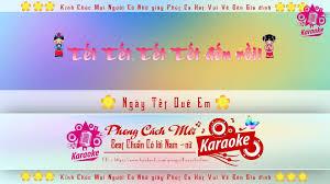Karaoke New Beat - Ngày Tết Quê Em | Mây Trắng