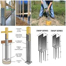Fence Footings Fence Post Concrete Posts Fence