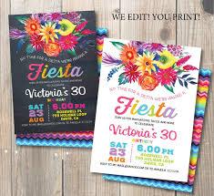 Invitacion Fiesta Cumpleanos Fiesta Fiesta Mexicana Flores De