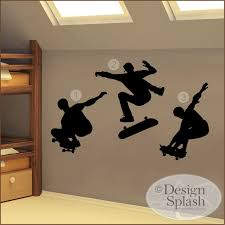Skate Boarders Set Of 3 Wall Decals Sp 109 Etsy