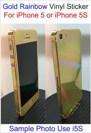 Gold Rainbow Vinyl Sticker For Iphone 5 5s Full Body Vinyl Decal Skin Vinyl Sticker Vinyl Decals Vinyl