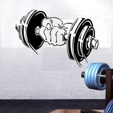 Gym Barbells Pattern Wall Sticker For Decoration Accessories Mural Room Sports Equipment Stickers Waterproof Vinyl Home Decor Wall Decals For Home Wall Decals For Home Decor From Onlinegame 11 94 Dhgate Com