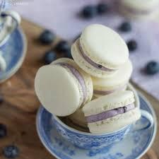blueberry mascarpone macarons baking