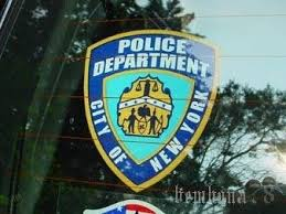 Ny Nypd New York Police Department Window Decal Sticker 20918689