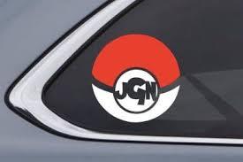 Pokeball Initial Monogram Two Color Personalized Car Decal Custom Vinyl Decal Custom Window Stickers Car Personalization