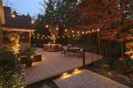 create backyard lighting