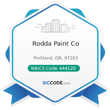 rodda paint co zip 97203 naics