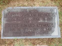 Willie Myrtle Reynolds (Barbour) (1874 - 1969) - Genealogy