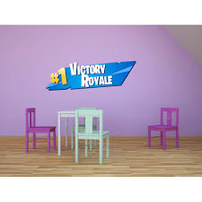 Fortnite Victory Championship Logo Design Decor Wall Art Vinyl Decal Girls Boys Kids Room Bedroom Nursery Kindergarten Fun Home Children Room Decor Wall Art Vinyl Stickers Adhesive Size 30x30 Inch Walmart Com