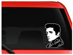 Amazon Com Elvis Presley King Of Rock N Roll Portrate Signature Car Truck Suv Decal Sticker Sticker Graphic Auto Wall Laptop Cell Kitchen Dining