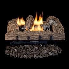 townsend bark gas log set with vent