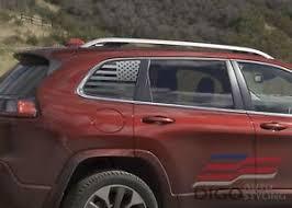 2014 2020 Jeep Cherokee Rear Window American Flag Decal Sticker Matte Black 2 Ebay
