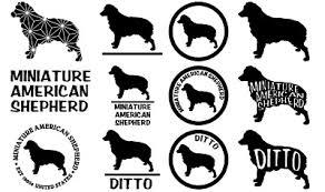 Miniature American Shepherd Mini Aussie Dog Car Wall Vinyl Decal Stickers Ebay