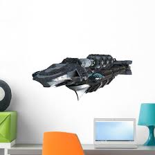 Interstellar Warship Spaceship Wall Decal Wallmonkeys Com