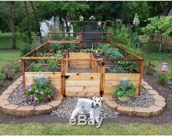 8 Ft X 12 Ft Cedar Raised Garden Bed Deer Fence Kit Plant Based Diet Compassion