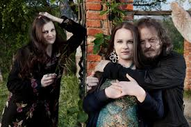 Popstar Zucchero Sugar Fornaciari and his daughters Alice and Ir ...