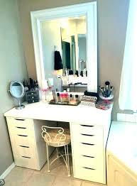 small makeup desk black dresser for