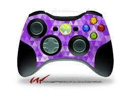 Xbox 360 Wireless Controller Decal Style Skin Triangle Mosaic Purple Controller Not Included Newegg Com
