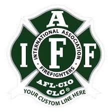 Custom Iaff Green White Decal Firefighter Com