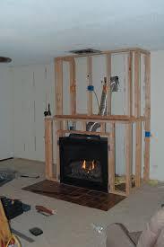 diy gas fireplace surround modern