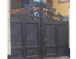 Luxury Design Of Automatic Security Driveway Swing Main Gate For Villas Cast Iron Pipe House Entrance Design Gate Models India Doors Aliexpress