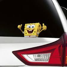 Spongebob Peeking On Board Funny Joke Novelty Car Bumper Window Sticker Decal Ebay