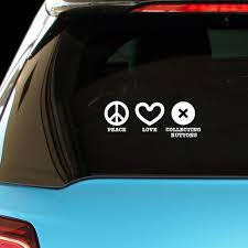 Amazon Com Pressfans Peace Love Collect Buttons Car Laptop Wall Sticker Automotive
