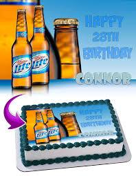 miller lite beer edible cake image