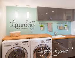 Laundry Loads Of Fun Wall Decal Laundry Room Decal Surface Inspired Home Decor Wall Decals Wall Art Wooden Letters