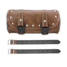 leather motorcycle front fork tool bag
