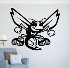 Charlotte Hornets Nba Logo Wall Decal Vinyl Sticker Emblem Basketball Team Art Ebay