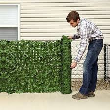 Ivy Privacy Fence Cover Domestify In 2020 Faux Greenery Outdoor Outdoor Privacy Panels Backyard Privacy Screen