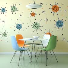 Atomic Starburst And Accents 50s Style Decals Large Set 50 Plus At Retro Planet