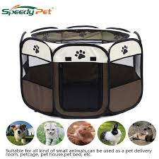 Large Spacedog Fence Pet Portable Foldable Exercise Kennel Dogs Cats Indoor Outdoor Removable Mesh Shade Cover Pet Dog House Houses Kennels Pens Aliexpress